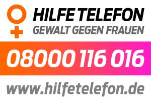 """Hilfetelefon """"Gewalt gegen Frauen"""" kostenlose Hotline / 24h"""
